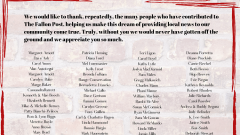 A special thank you to our contributors