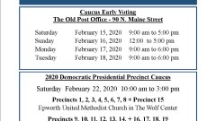 The Democratic 2020 Presidential Caucuses and Early Voting
