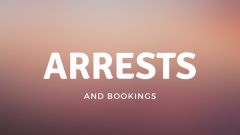 Arrests and Bookings August 30 through September 5