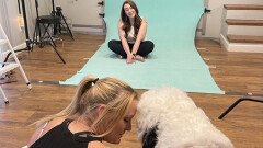 Celebrity Photo Shoot for Hank the CASA Therapy Dog