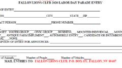 Fallon Lions Club Annual Labor Day Parade