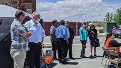 Sisolak visits Fallon Tribal Health Center vaccination pod, small businesses