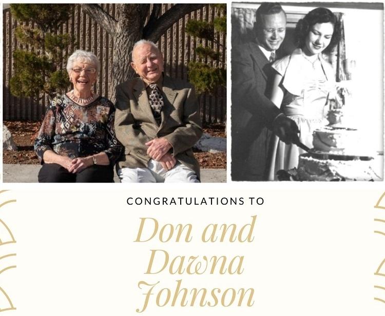 Announcement -- Don and Dawna Johnson
