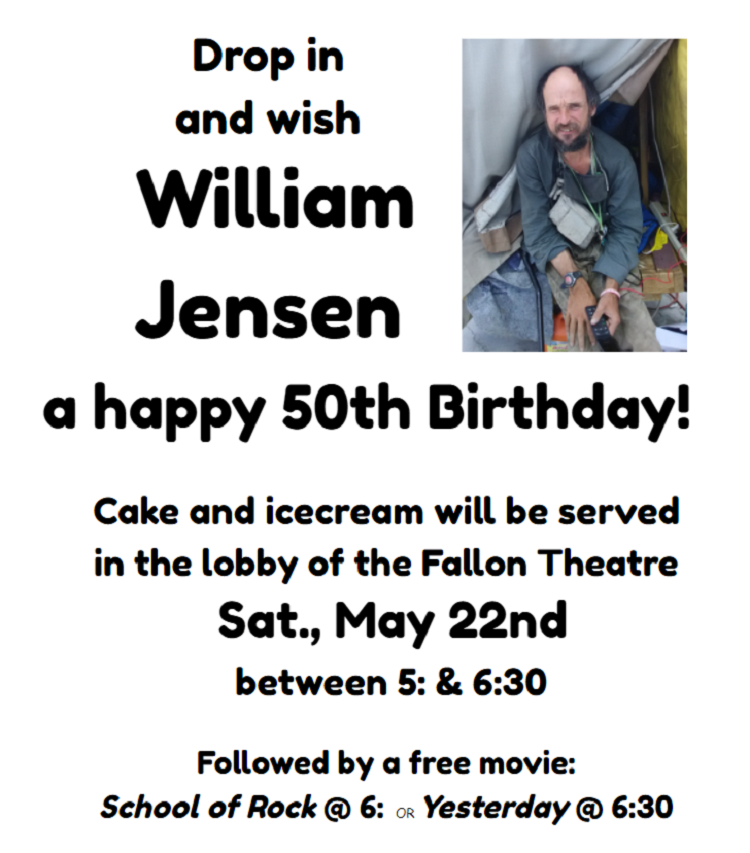 Announcement - Will Jensen 50th Birthday Reception
