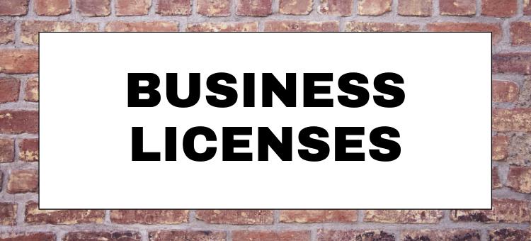 April Business License Report