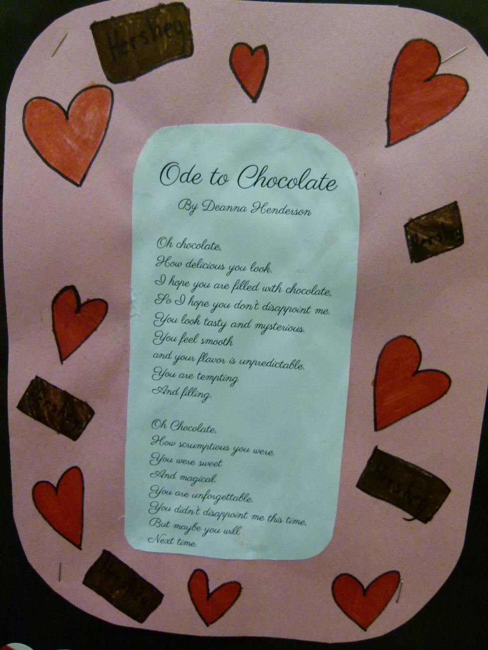 Ode to Chocolate -- Numa 5th Graders