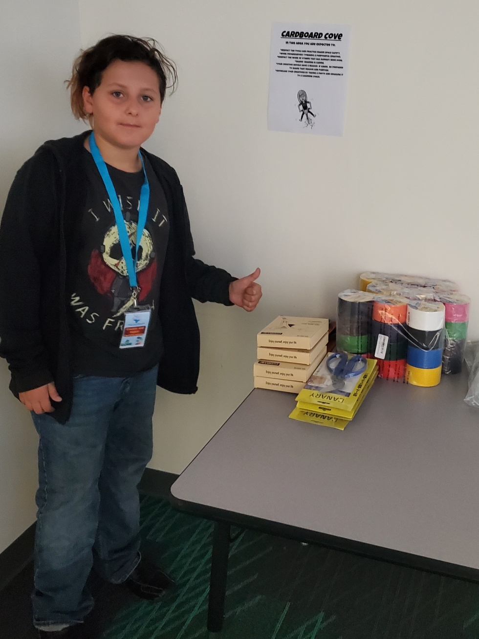 CCMS Blended Learning Students Unbox Makerspaces
