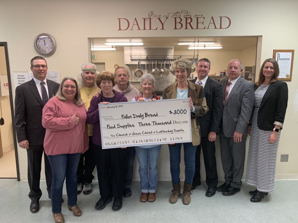LDS Church Grants Fallon Daily Bread $3,000