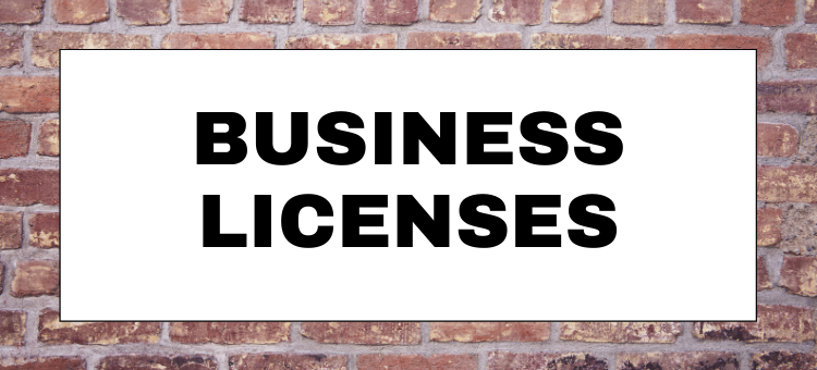 New Business Licenses October 2020