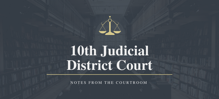 Notes from the District Court