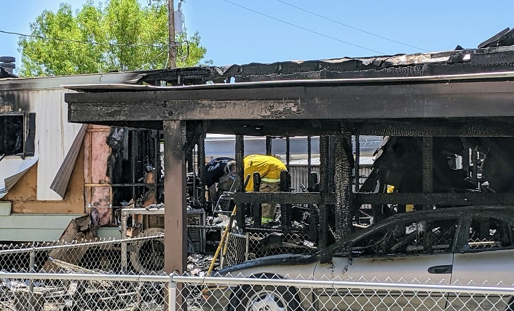 Trailer Fire Claims the Life of Local Resident
