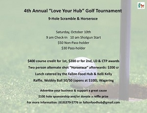 "4th Annual ""Love Your Hub"" Golf Tournament"