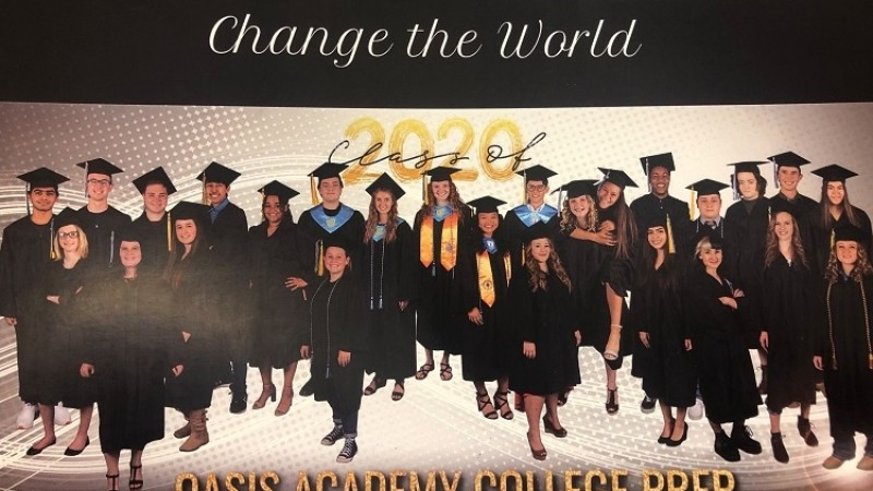 Sixteen Oasis Academy seniors earned dual degrees from WNC