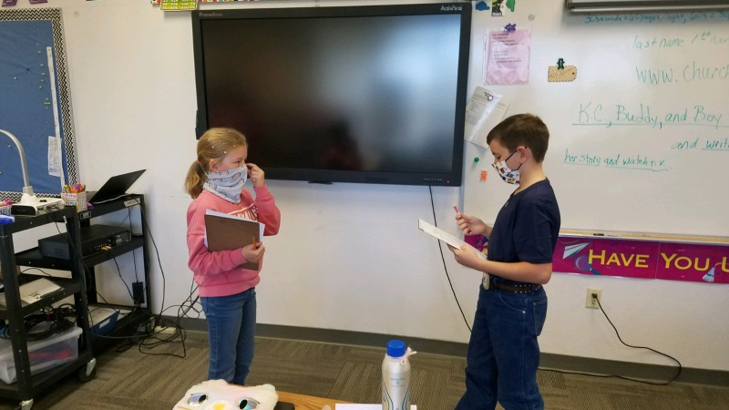 5th graders Tyler Crystal, and Kynzlee Krata